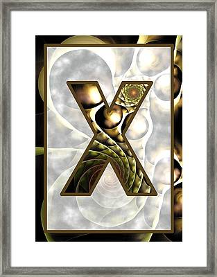 Fractal - Alphabet - X Is For X-ray Framed Print by Anastasiya Malakhova