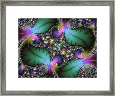 Fractal Art With Jewel Colors Horizontal Framed Print