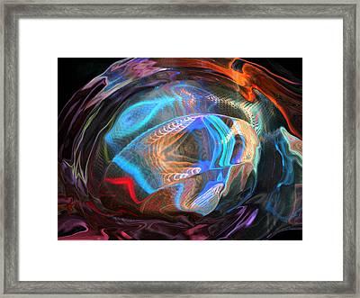 Fractal Ball Framed Print