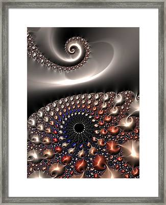 Framed Print featuring the digital art Fractal Contact by Matthias Hauser