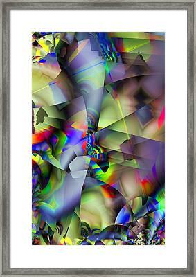Fractal Cubism Framed Print