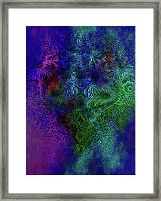 Fractal Face Framed Print by Fractal Art
