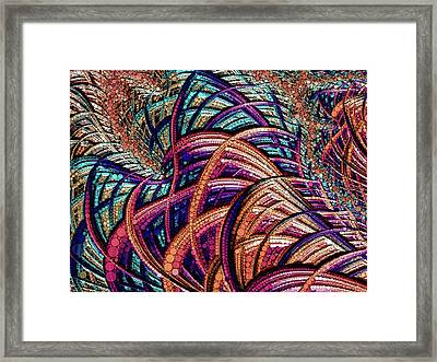 Framed Print featuring the painting Fractal Farrago by Susan Maxwell Schmidt