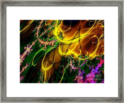 Fractal Fire Framed Print by Sandra Bauser Digital Art