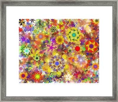 Fractal Floral Study 2 Framed Print