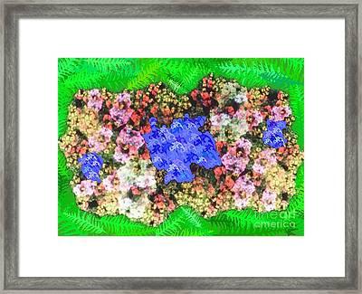 Fractal Flower Garden Framed Print by Diamante Lavendar