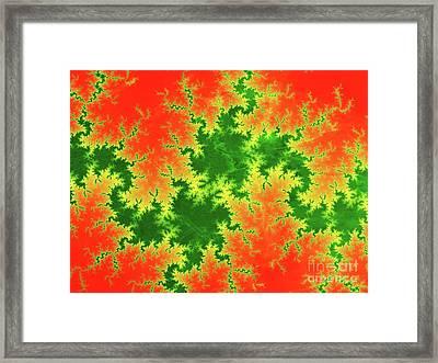 Fractal Fracture Framed Print