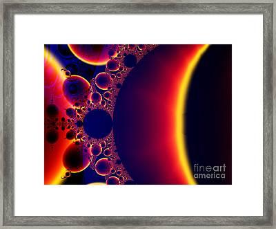 Fractal Galaxy Sunset  Framed Print