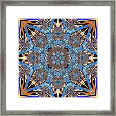 Fractal Lace Mandala Framed Print