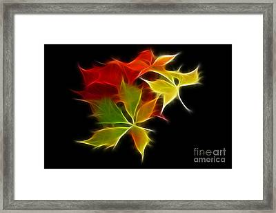 Fractal Leaves Framed Print by Teresa Zieba