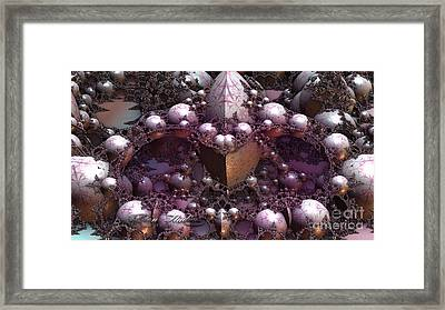 Fractal Mine Field Framed Print