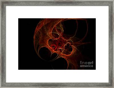 Fractal Mist Framed Print by Sandra Hoefer