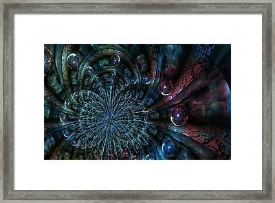 Fractal Moons Framed Print
