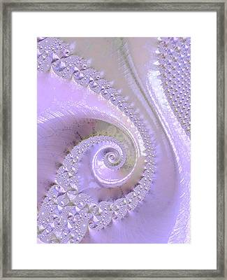 Fractal Of Pearl Framed Print