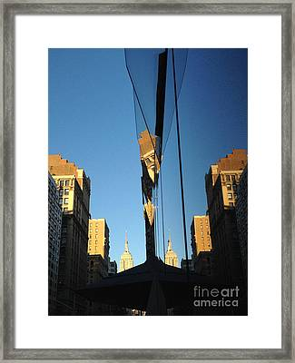 Fractal On A Breaking Wall Framed Print by Clay Cofer