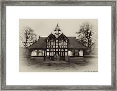 Fractal Pavilion Framed Print by David J Knight