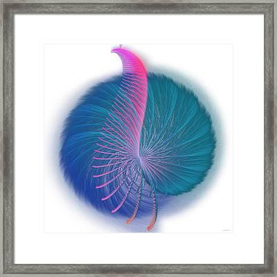 Fractal Peacock Framed Print by Ganesh Barad