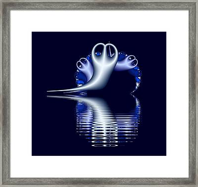 Fractal Peeble Ghosts Framed Print
