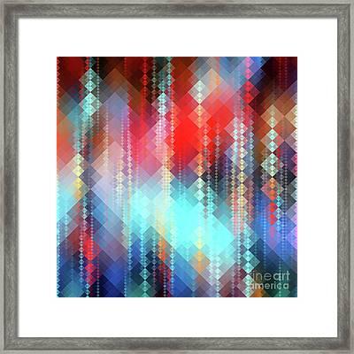 Fractal Pixels Framed Print