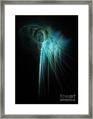 Fractal Rays Framed Print