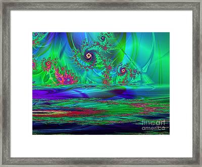 Fractal Reflections Framed Print by Sandra Bauser Digital Art