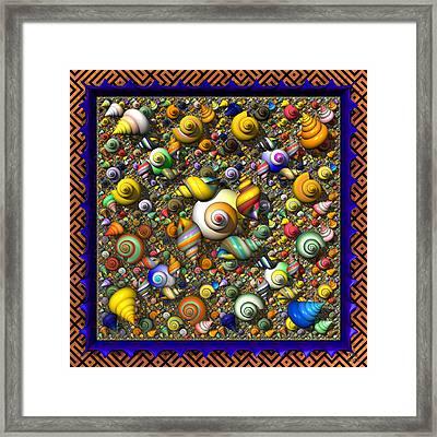 Fractal Shell Collector Framed Print