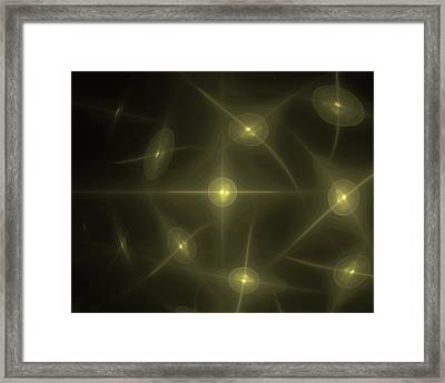 Fractal - Solar Flares Framed Print by Digital Artist