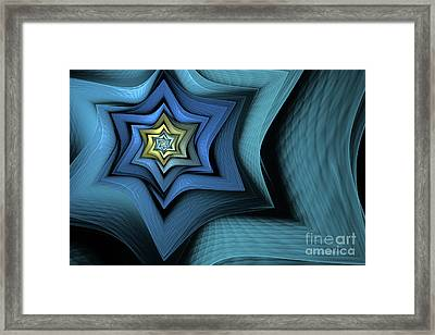 Fractal Star Framed Print