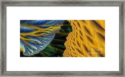 Fractal Storm Framed Print