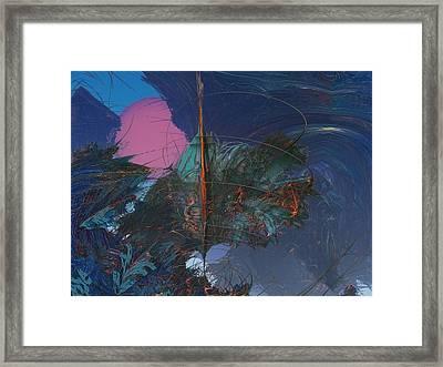 Fractal Sunset Framed Print