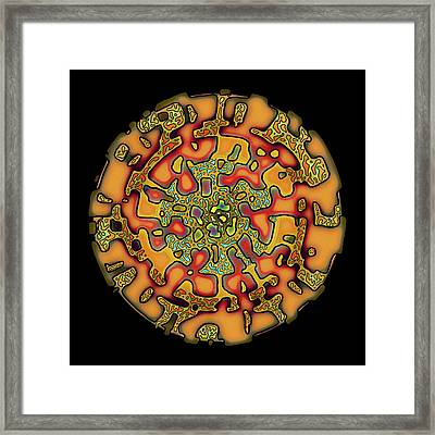 Fractal Symmetry, Autumn's Roots Framed Print