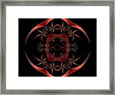 Fractal Symmetry Framed Print