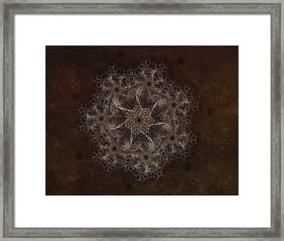 Fractal Tapestry Framed Print by AGeekonaBike Fine