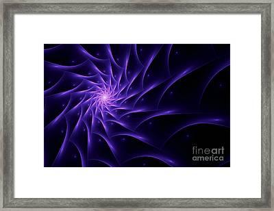 Fractal Web Framed Print