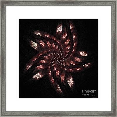 Fractalflies Framed Print by Elizabeth McTaggart