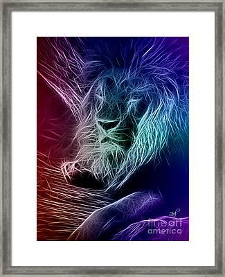 Fractalius Lion Framed Print