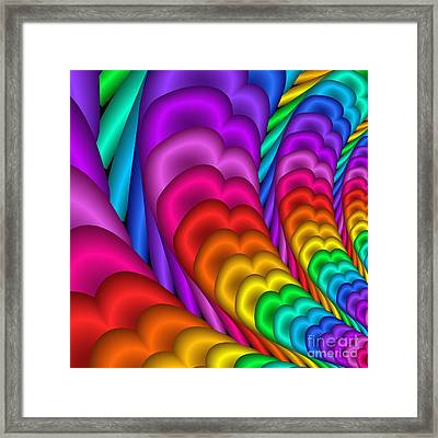 Fractalized Colors -10- Framed Print