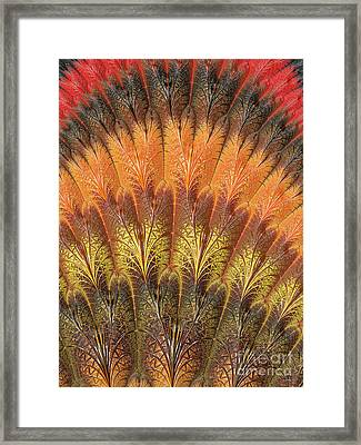 Fractalized Feather Fan Framed Print