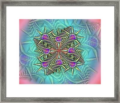 Fractalpazzle Framed Print
