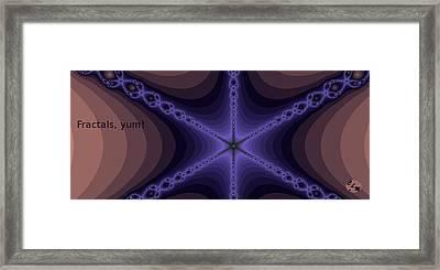 Fractals Yum Framed Print