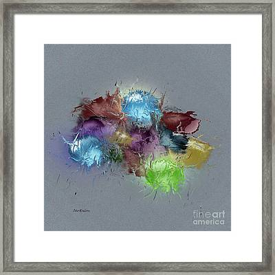 Fractured Bouqet 1 Pc Framed Print