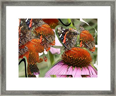 Fractured Butterfly Framed Print