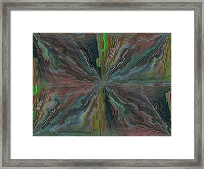 Fractured Frenzy Framed Print by Tim Allen