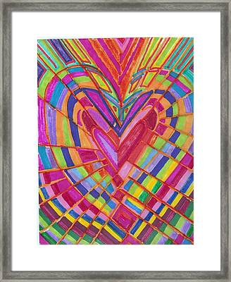 Fractured Heart Framed Print by Brenda Adams