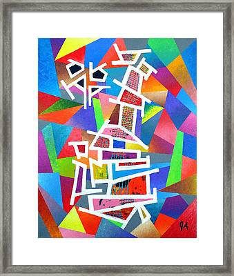 Fractured Instrument Of Love Framed Print by Jeremy Aiyadurai
