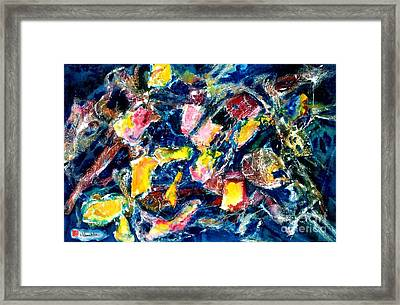 Fractured Framed Print by Norma Boeckler