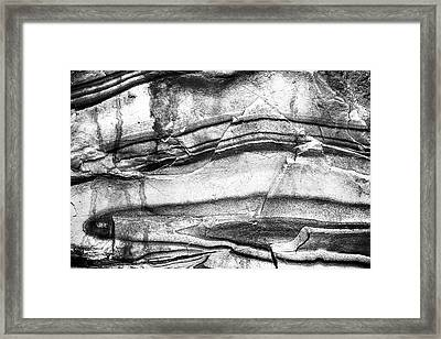 Fractured Rock Framed Print by Onyonet  Photo Studios