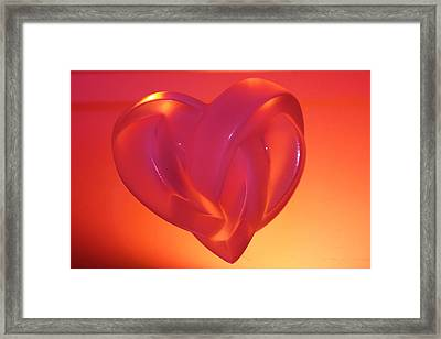 Fragile Handle With Care Framed Print by Yvonne Ayoub