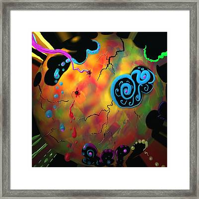 Framed Print featuring the painting Fragile by Kevin Caudill