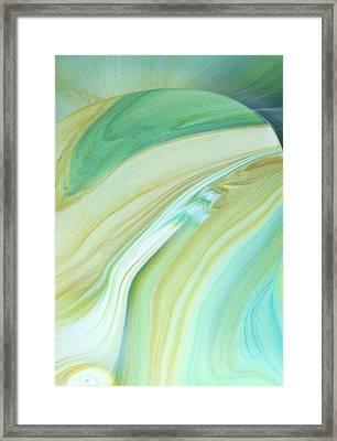 Fragility Abstract Framed Print by Georgiana Romanovna